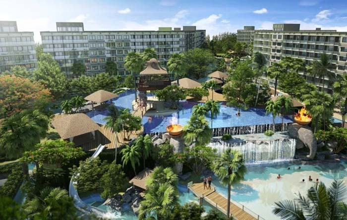 Wonderful beach resort, Jomtien, Thailand